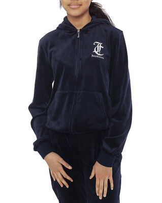 Juicy Couture Junior Juicy Velour Zip Through Night Sky