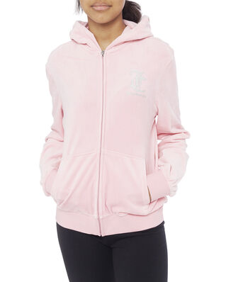 Juicy Couture Junior Juicy Velour Zip Through Rose Quartz