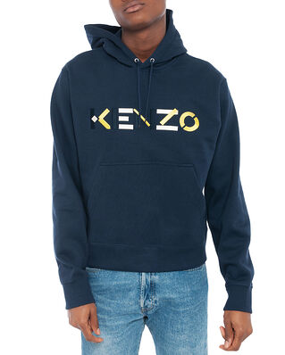 Kenzo Kenzo Multico Logo Hoodie Navy Blue