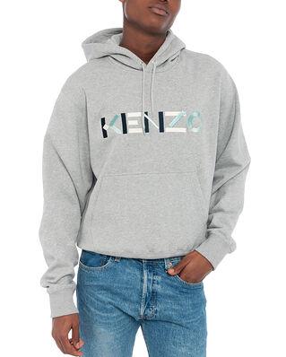 Kenzo Kenzo Multico Logo Hoodie Pearl Grey