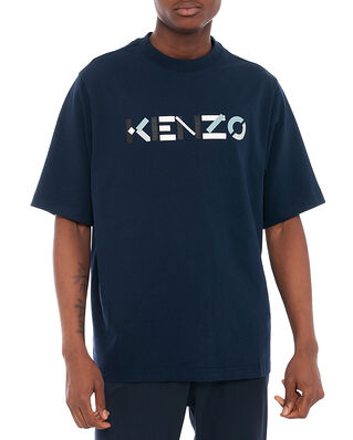 Kenzo Men's Knitted Cotton T-Shirt Navy Blue
