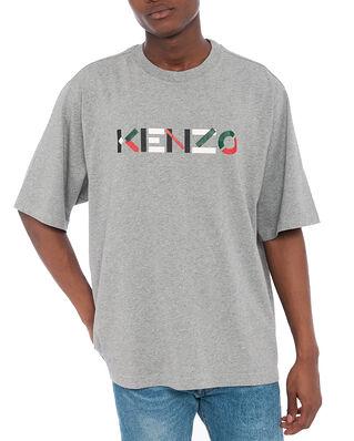 Kenzo Kenzo Multico Logo T-Shirt Pearl Grey