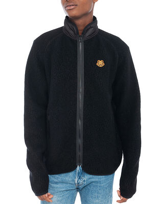 Kenzo Lightweight Fleece Zip-Up Jkt Black