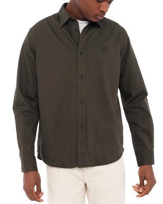 Kenzo Men's Woven Cotton Shirt Dark Khaki