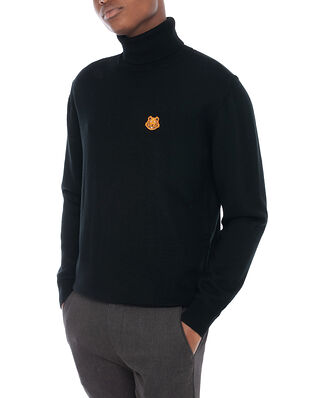 Kenzo Tiger Crest Turtle Neck Black