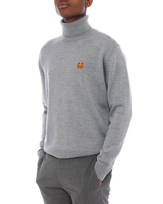 Kenzo Tiger Crest Turtle Neck Dove Grey