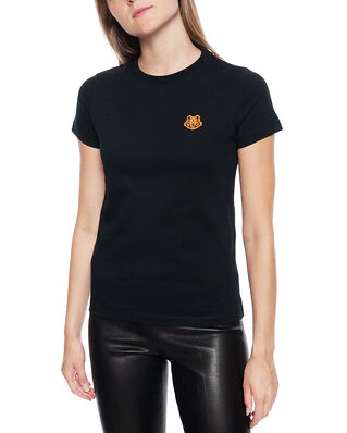 Kenzo Womens Knitted Cotton T-Shirt Black