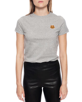 Kenzo Women's Knitted Cotton T-Shirt Pearl Grey