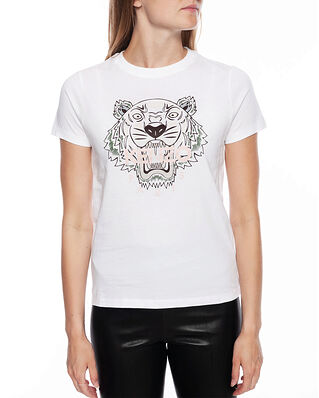 Kenzo Women's Knitted Cotton T-Shirt White
