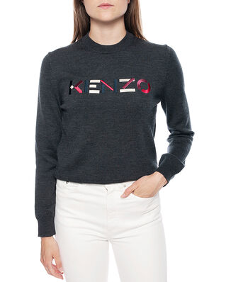 Kenzo Women's Knitted Wool Pullover Dark Grey