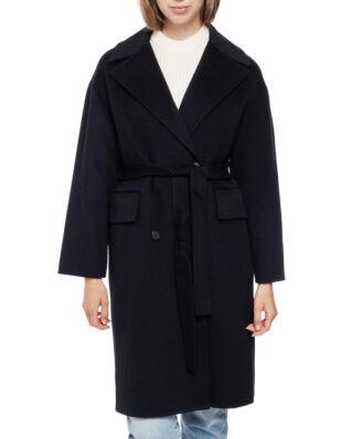 Kenzo Belted Cocoon Coat Black