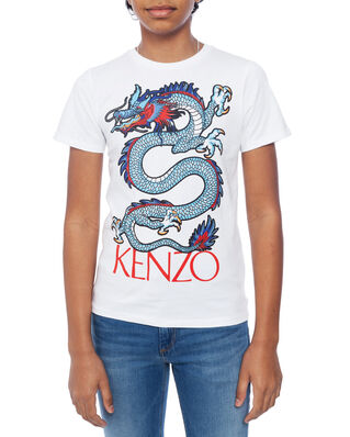 Kenzo Junior Dragon Celebration T-shirt Optic White