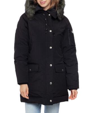Kenzo Long Parka Faux Fur Hood Black