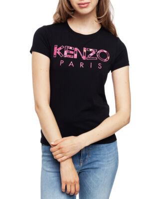Kenzo 'Peonies' KENZO Paris T-shirt Black
