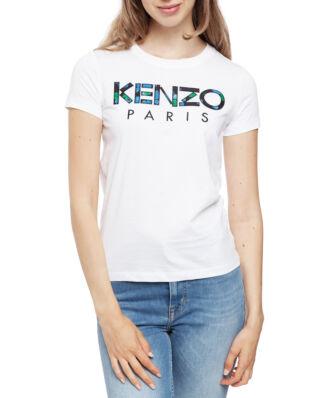 Kenzo 'Peonies' KENZO Paris T-shirt White