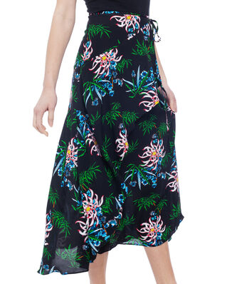 Kenzo Sea Lily Maxi Skirt Black