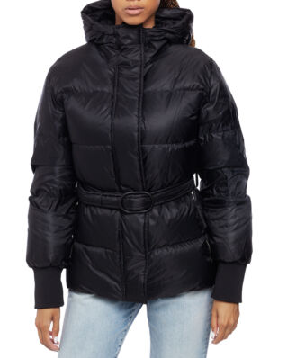 Kenzo Short Belted Puffa Jacket Black