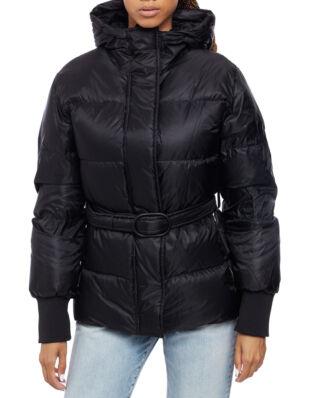 Kenzo Short Belted Puffa Jacket Black
