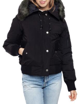 Kenzo Short Parka Faux Fur Hood Black