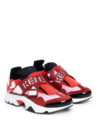 Kenzo Sonic Velcro Sneakers Red/Pink/Black