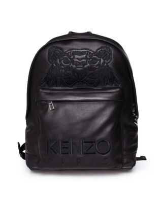 Kenzo Tiger Leather Backpack 99 Black
