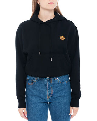 Kenzo Boxy Fit Hoodie Tiger Crest Black