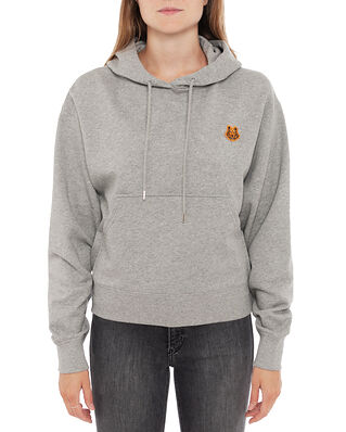 Kenzo Boxy Fit Hoodie Tiger Crest Pearl Grey