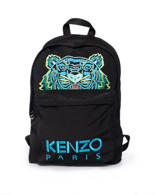 Kenzo Large Tiger Canvas Backpack Black