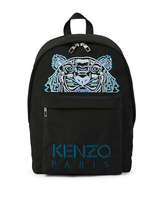Kenzo Large Tiger Canvas Backpack Black