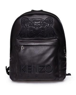 Kenzo Tiger Leather Backpack 99 Black
