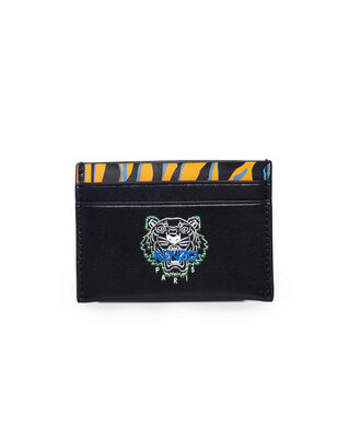 Kenzo 'Tiny Tiger' Card Holder Black