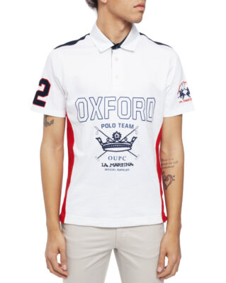 La Martina Man Piquet Polo S/S Optic White
