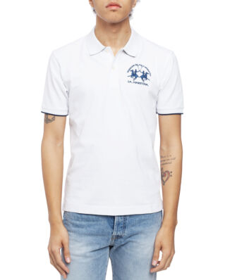 La Martina Man Polo S/S Piquet Piquet Str Optic White