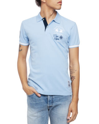 La Martina Man Polo S/S Piquet Stretch Blue Bell