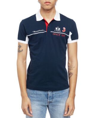 La Martina Man Polo S/S Piquet Stretch Navy