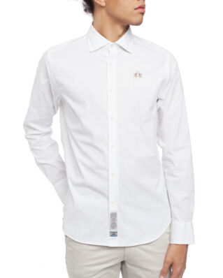 La Martina Man Shirt L/S Poplin Stretch Optic White