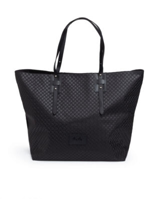 LaLa Berlin Big Tote Maxi Kufiya Black
