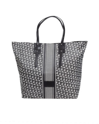 LaLa Berlin Big Tote Maxime Black/White