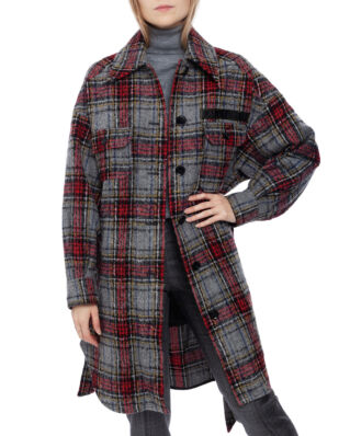 LaLa Berlin Coat Cay Check Multi