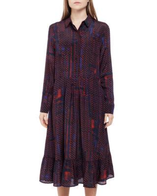 LaLa Berlin Dress Demi Kufiya Stamp Dark