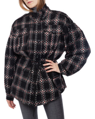 LaLa Berlin Jacket Jona Check Kufiya Black