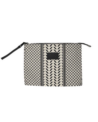 LaLa Berlin Pouch Pili Kufiya Off-White/ Black