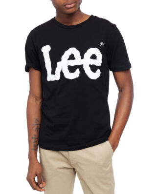 Lee Wobbly Logo Tee Black