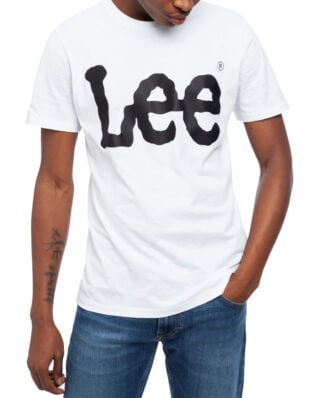 Lee Wobbly Logo Tee White
