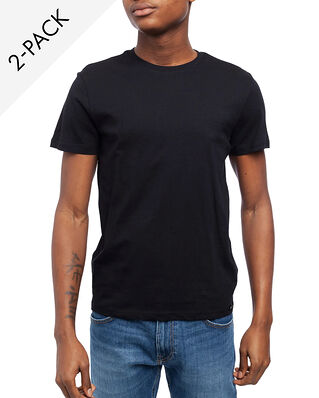 Lee Twin Pack Crew Tee Black/Black