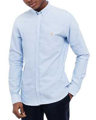 Les Deux Oliver Oxford Shirt Light Blue