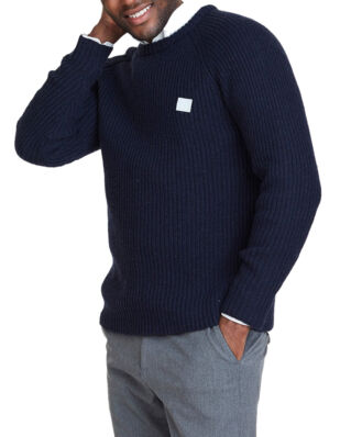 Les Deux Piece Wool Knit Dark Navy