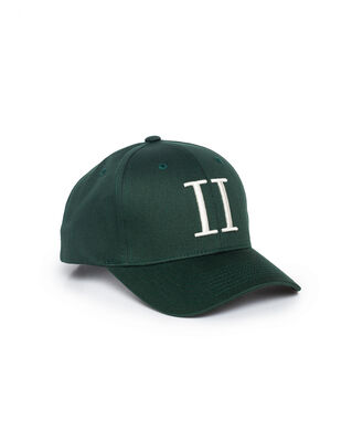 Les Deux Encore Baseball Cap Dark Green/Off White