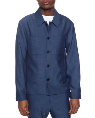 Les Deux Marseille Herringbone Jacket Dark Navy