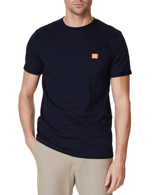 Les Deux Piece T-Shirt Dark Navy/Papaya